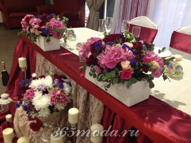 украшение свадьбы марсала