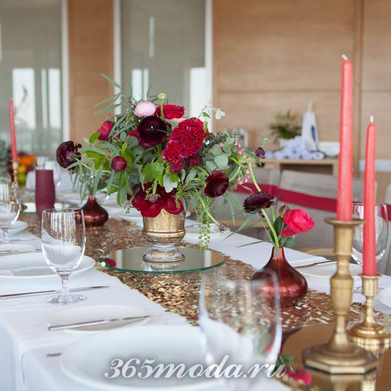 сервировка стола свадьба марсала