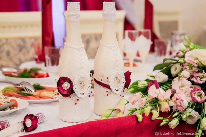 свадебный декор айвори марсала