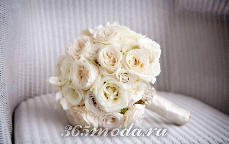 свадебный букет айвори