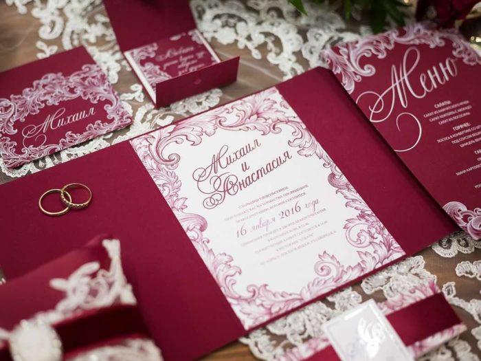 свадебные атрибуты айвори и марсала