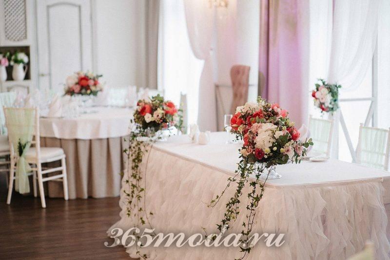 свадебное украшение зала айвори марсала