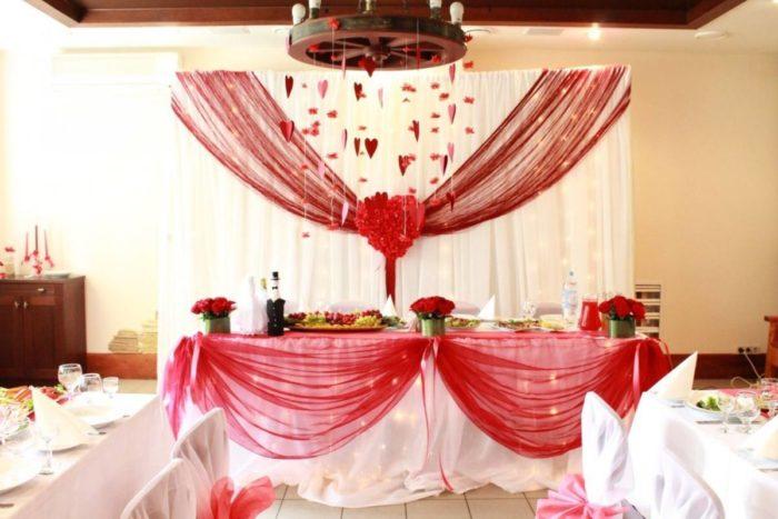свадьба марсала декором пространства