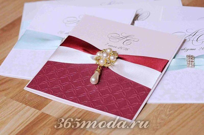 свадьба марсала декор документов