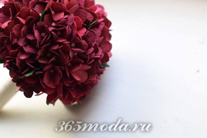 свадьба марсала цветы