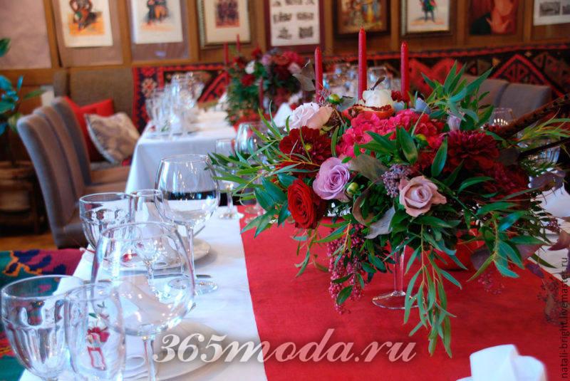 свадьба марсала декор