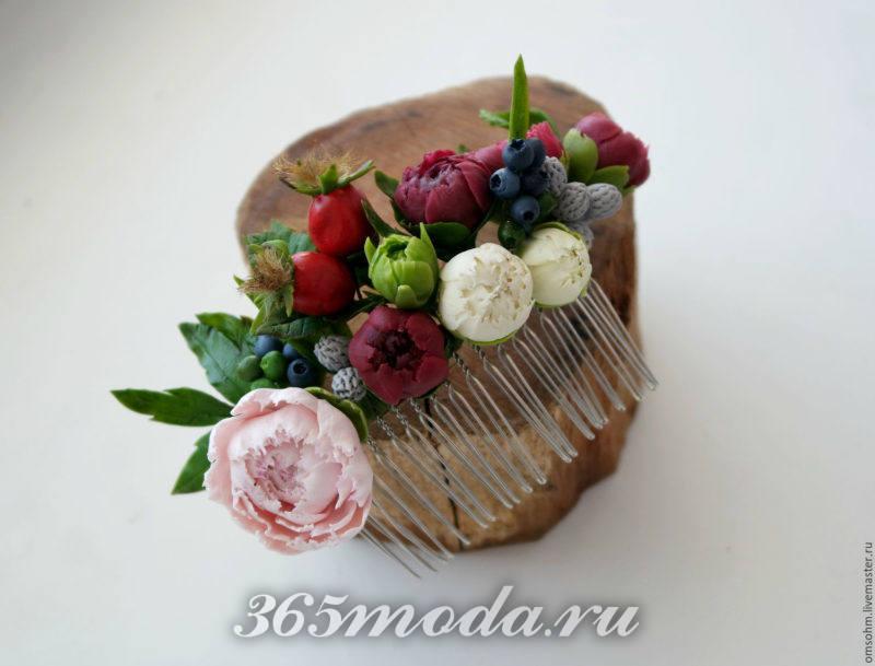 свадьба марсала украшение для волос