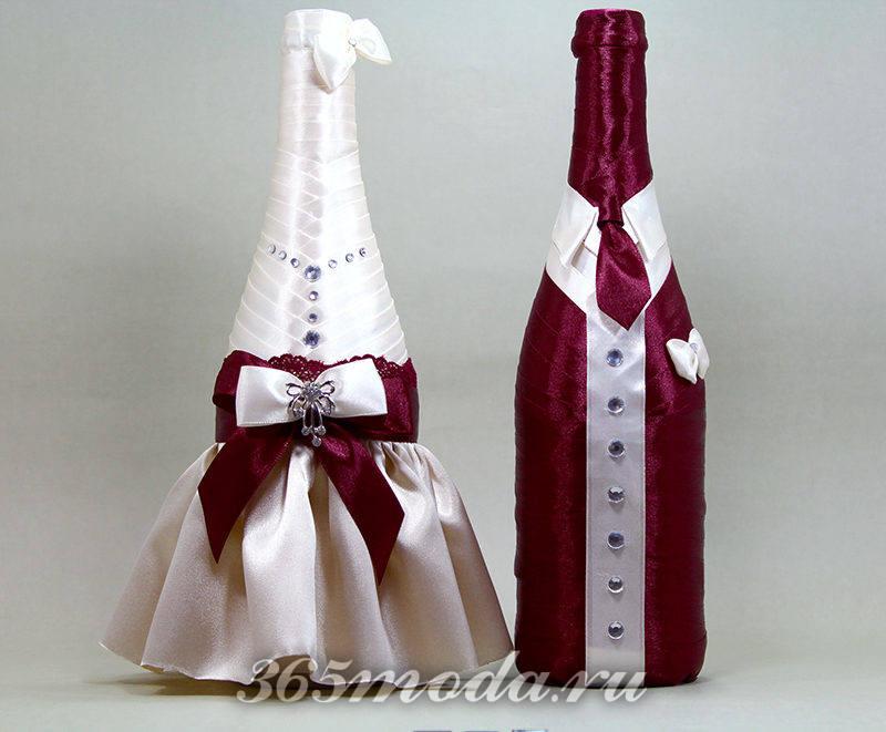 свадьба марсала декор свадебных атрибутов