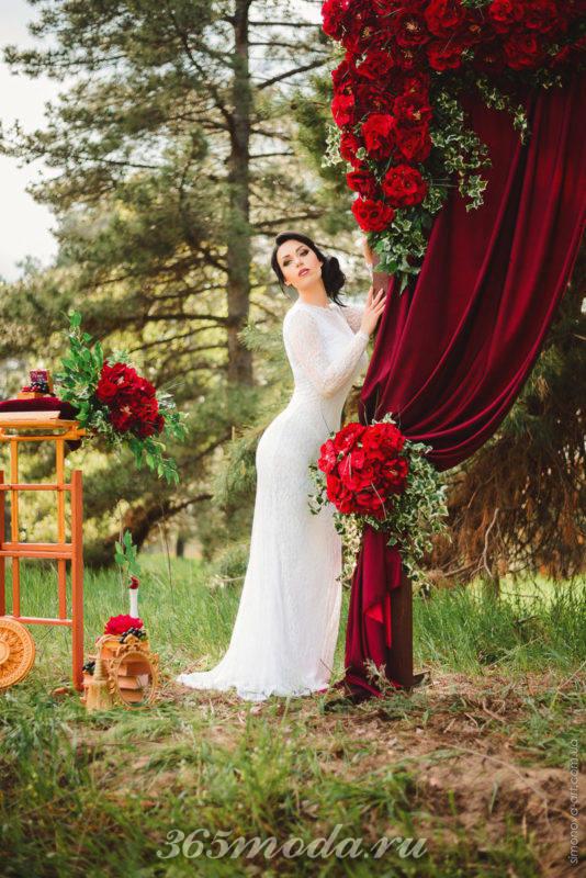 летняя свадьба марсала в лесу
