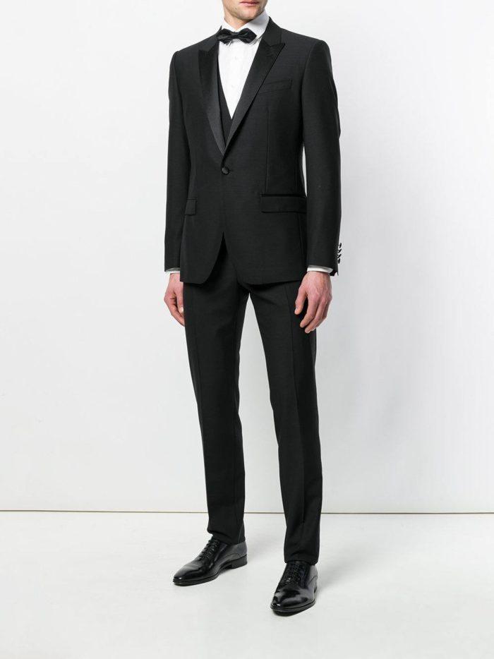черный свадебный костюм для жениха
