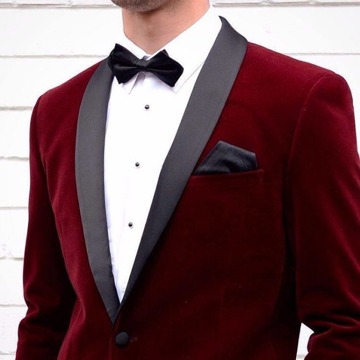 бархатный пиджак марсала для жениха