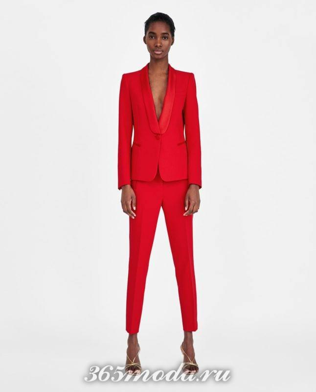 женский красный костюм 2018