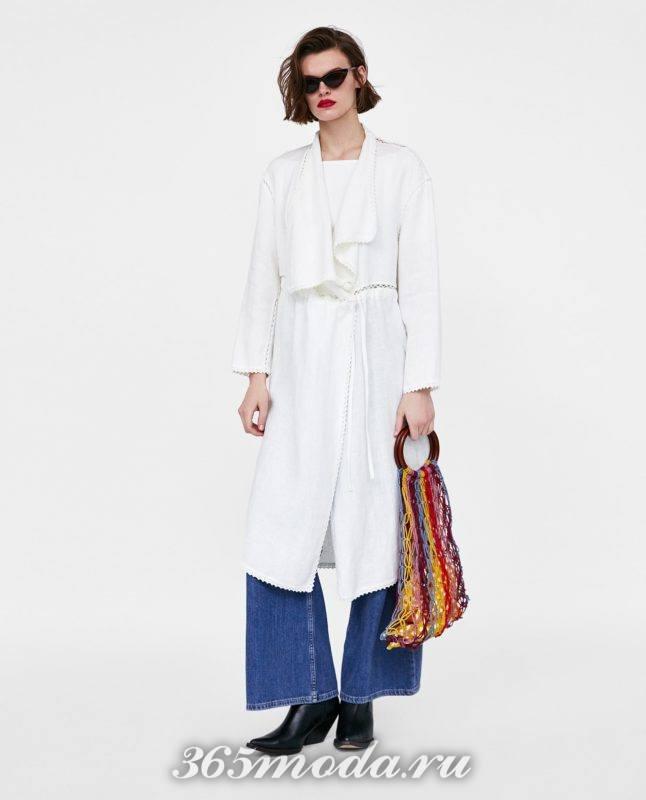 белое женское пальто 2018