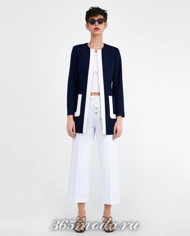 синее женское пальто 2018