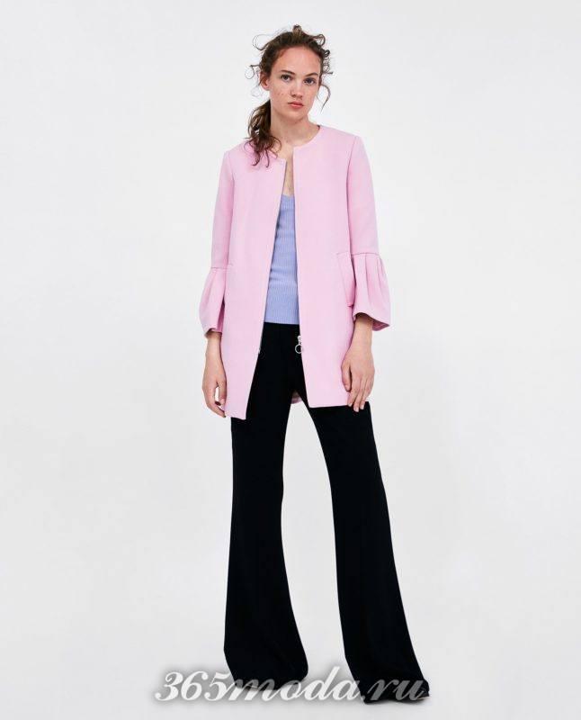 розовое женское пальто 2018