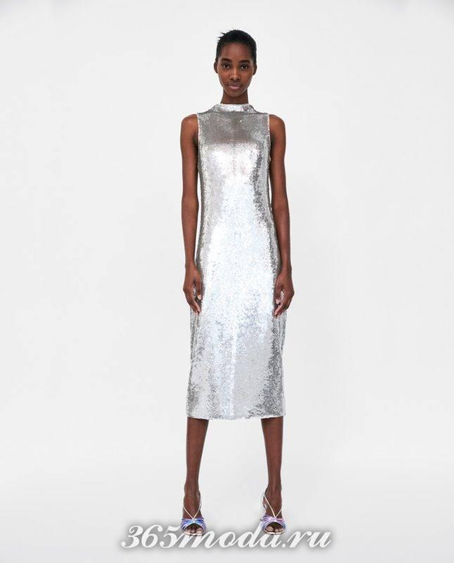 модное серое женское платье 2018