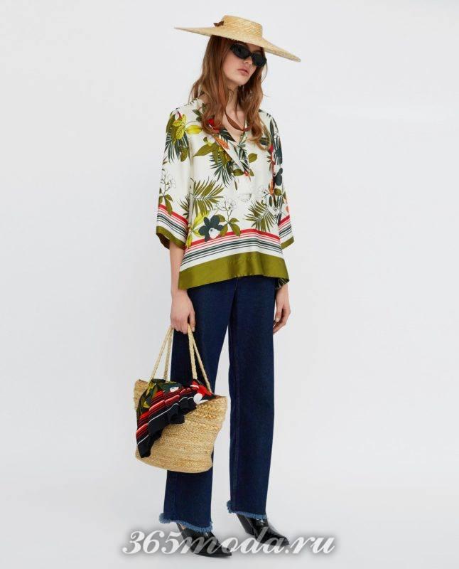модная женская цветная блузка 2018