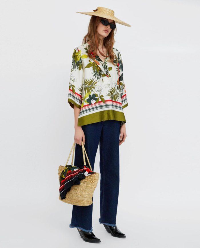 женская цветная блузка