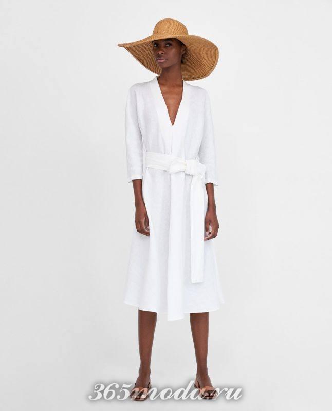 белое платье 2018