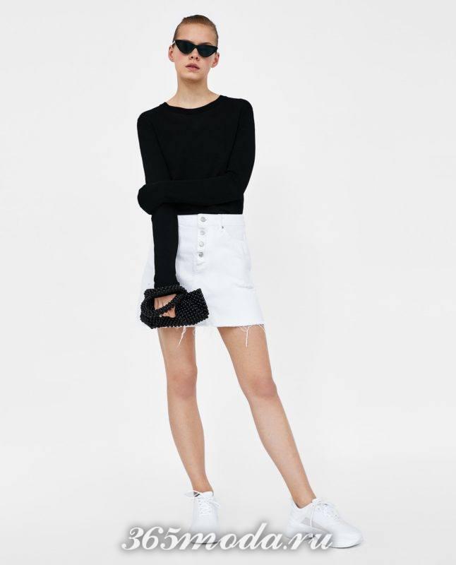 модная белая юбка 2018