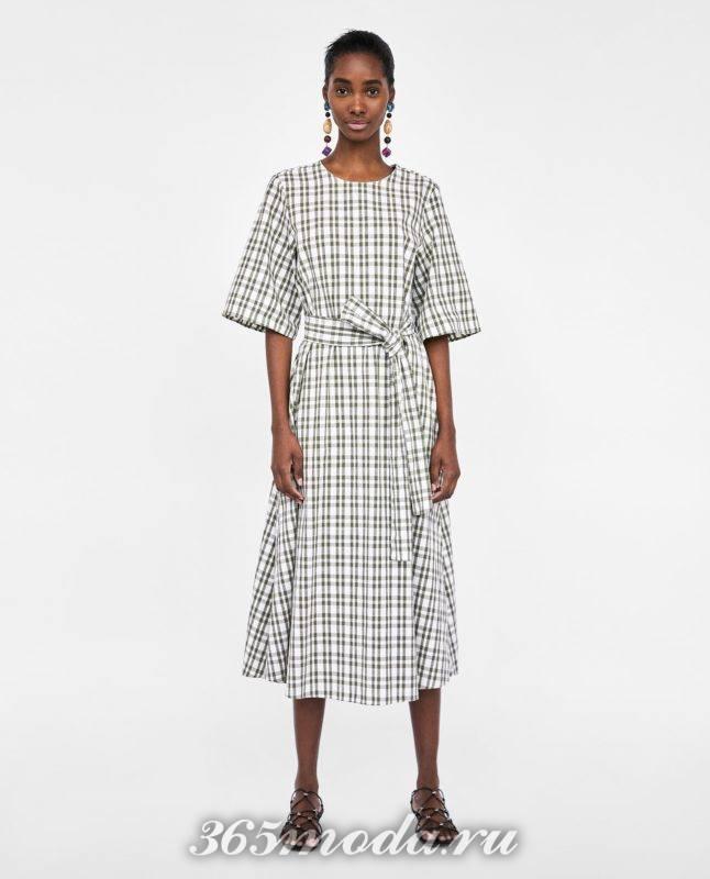 клетчатое платье 2018