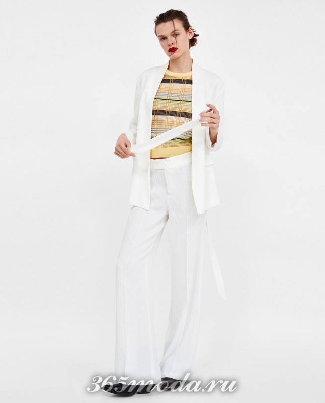 модные белые женские брюки 2018
