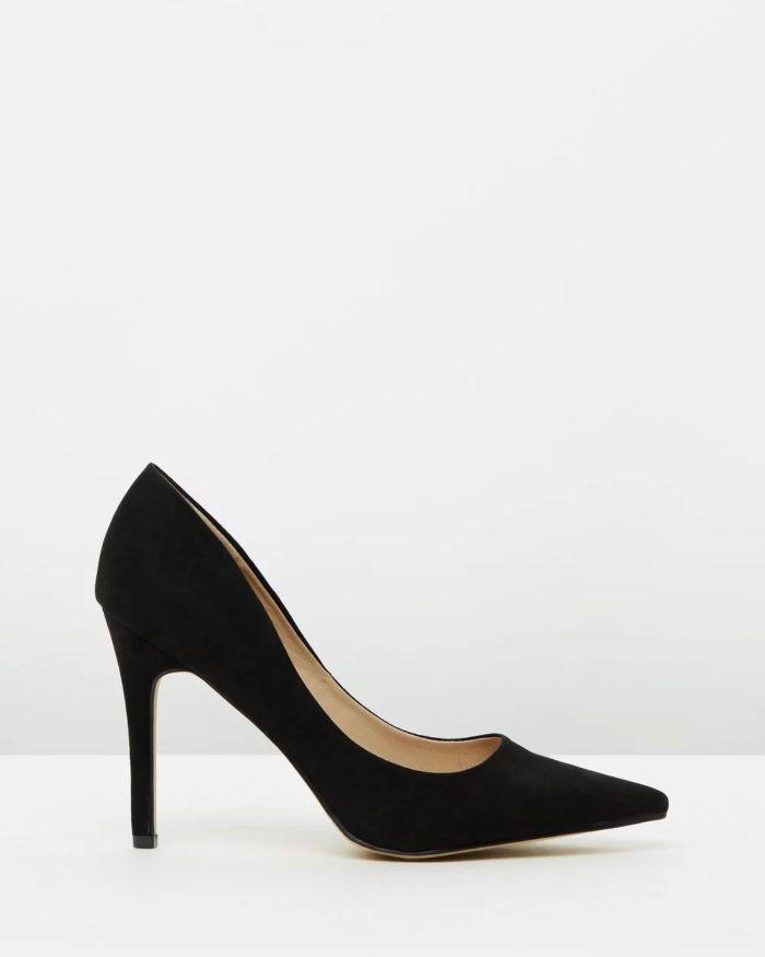 черные туфли на высоком каблуке шпильке