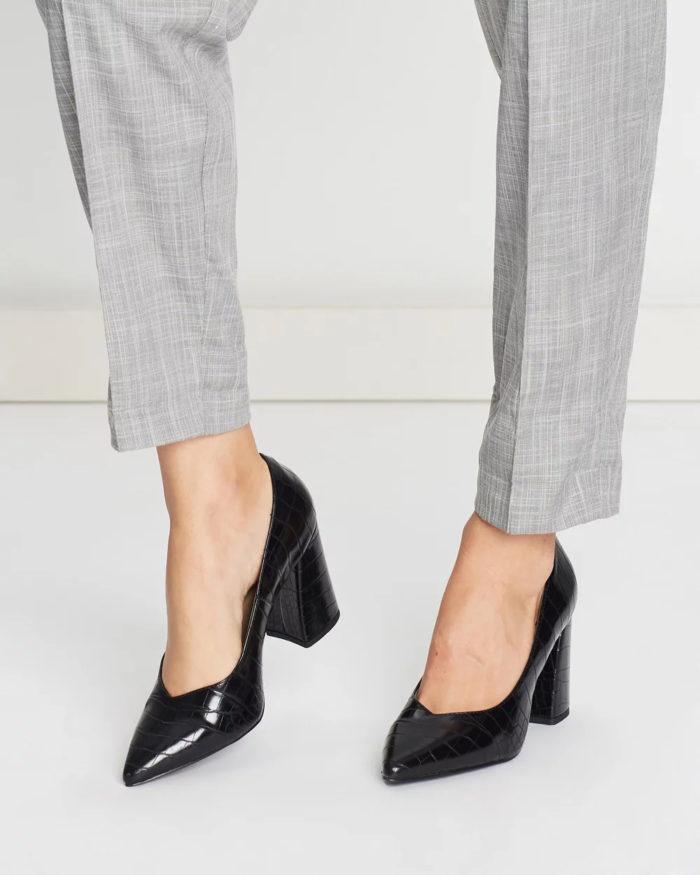 черные туфли змеиная кожа