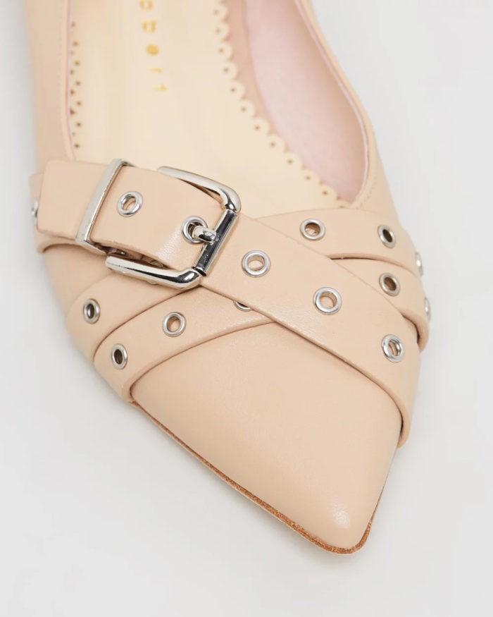 кремовые туфли